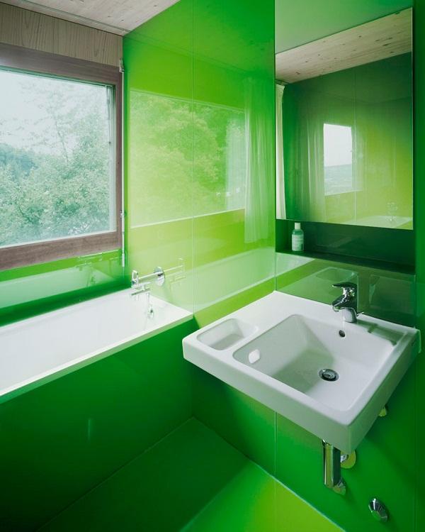 lacobel w łazience
